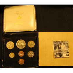 1974 Royal Canadian Mint Double Cent Set in original box of issue with literature.