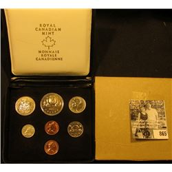 1977 Royal Canadian Mint Double Cent Set in original box of issue with literature.