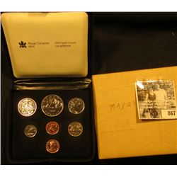 1979 Royal Canadian Mint Double Cent Set in original box of issue with literature.