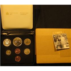 1980 Royal Canadian Mint Double Cent Set in original box of issue with literature.