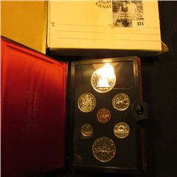 1976 Library of Parliament Canada Double Dollar Double Struck Canada Coin Set in original holder of
