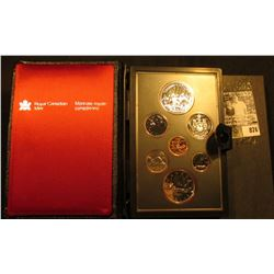 1980 Polar Bear Canada Double Dollar Double Struck Canada Coin Set in original holder of issue. Incl