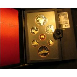 1982 Bison Canada Double Dollar Double Struck Canada Coin Set in original holder of issue. Includes