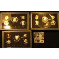 (3) 1997 S U.S. Silver Proof Sets, original as issued.
