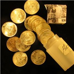 """Original BU Roll of (20) 1981 """"One Troy Ounce /31.1 Grams/.999 Fine Silver/Silver Trade Unit"""" Medall"""