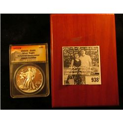 2013 W ANACS -EU69 Silver Eagle Enhanced Uncirculated Anacs Certified in hardwood box.
