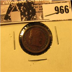 "966 . 1863 Civil War Token ""United We Stand Divided We Fall"", ""Army & Navy"". VF."