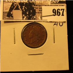 "967 . 1863 Civil War Token ""Army & Navy"". AU."