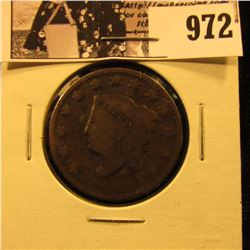 972 . 1831 U.S. Large Cent, Good.