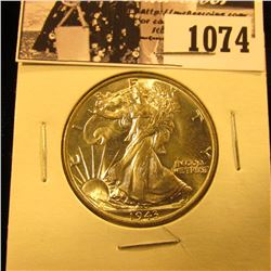 1074 . 1943 P Walking Liberty Half Dollar. Gem BU.