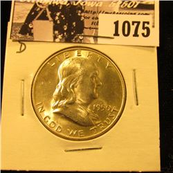 1075 . 1950 D Franklin Half Dollar, Brilliant Uncirculated.