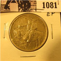 1081 . 1925 Stone Mountain Commemorative Silver Half-Dollar, EF.