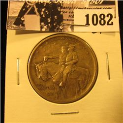 1082 . 1925 Stone Mountain Commemorative Silver Half-Dollar, EF.