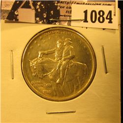 1084 . 1925 Stone Mountain Commemorative Silver Half-Dollar, AU-BU.
