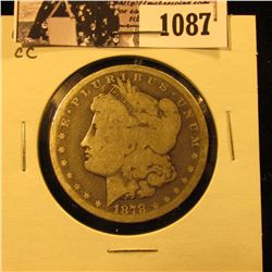 1087 . 1878 CC U.S. Morgan Dollar, Good/AG.