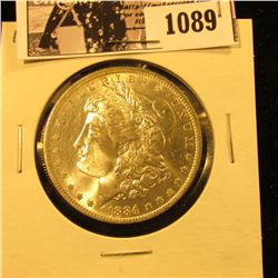 1089 . 1884 O U.S. Morgan Dollar, Brilliant Uncirculated.