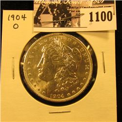 1100 . 1904 O U.S. Morgan Silver Dollar, Brilliant Uncirculated.