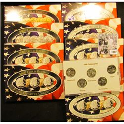 1107 . 2000, 2005, 2006, & 2007 Gold-Plated State Quarter Sets; & 2000, 2002, 2005,2006, & 2007 Plat
