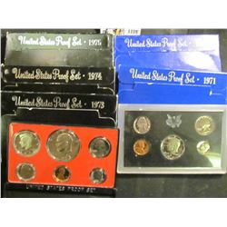 1109 . 1971S, 72S, 73S, 74S, & 75 U.S. Proof Sets