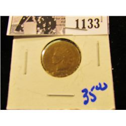 1133 . 1876 Semi Key Date Indian Head Penny
