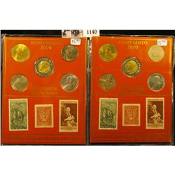 1140 . (2) Coin and stamp sets from the Vatican