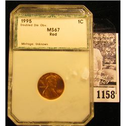 1158 . 1995 P Memorial Penny With Double Die Obverse
