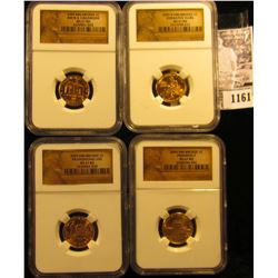 1161 . (4) Different variety 2009 Lincoln Commemorative Cents Graded MS 67 Red By NGC.