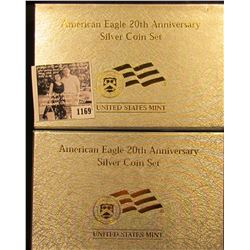 1169 . American Silver 20th Anniversary Silver Coin Set.  The Set Includes a Proof 2006-W West Point