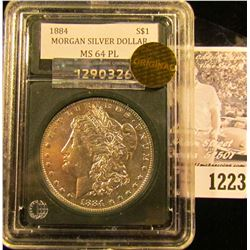 1223 . 1884 P Morgan Silver Dollar With A Proof-like Finish