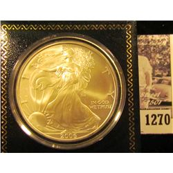 1270 . 2006 American Silver Eagle Encapsulated In Gift Box