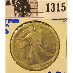 1315 . 1916-S Semi Key Date Walking Liberty Half Dollar