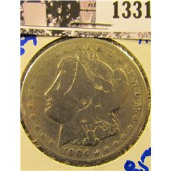 1331 . 1904-S Morgan Silver Dollar, Semi Key Date