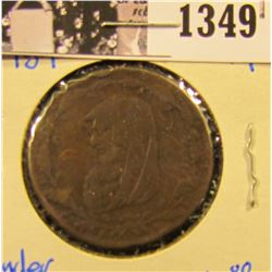 1349 . 1789 British Conder Token Sussex Mines