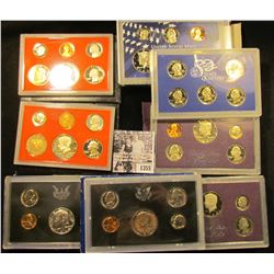 1355 . 1968S, 1971S, (2) 1982S, 1984S, 1987S, 2000S U.S. Proof Sets.