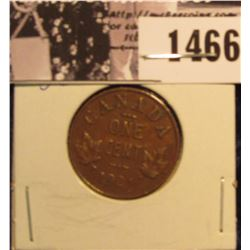 1466 . 1921 Canada Small Cent, VG.