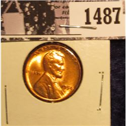 1487 . 1954 P Lincoln Cent, Red BU.