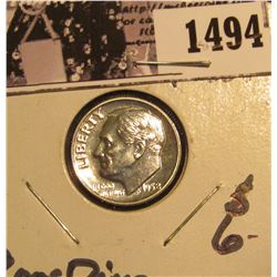 1494 . 1958 P Proof Silver Roosevelt Dime, lightly toned.