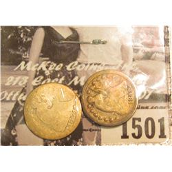 1501 . 1848 & 1853 Arrows at date U.S. Seated Liberty Half Dimes.