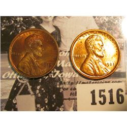 1516 . 1919 P & 1923 P Lincoln Cents, Red to Red-Brown Uncirculated.