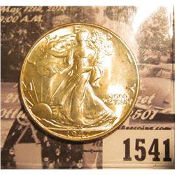 1541 . 1947 P Walking Liberty Half Dollar, Brilliant Uncirculated.