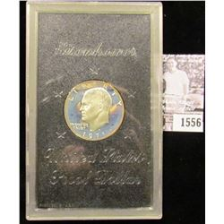 1556 . 1971 S Silver Proof Eisenhower Dollar in hard plastic case, no box.