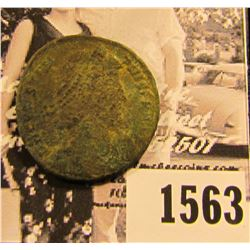 1563 . Emperor Constantius II,Roman Emperor from 337 to 361 AD. Copper follis. Reverse depicts soldi