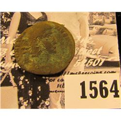 1564 . Emperor Constantius II,Roman Emperor from 337 to 361 AD. Copper follis. Reverse soldier appea