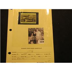 1574 . 1976 RW43 U.S. Department of the Interior Federal Migratory Waterfowl Stamp. Unused, not sign