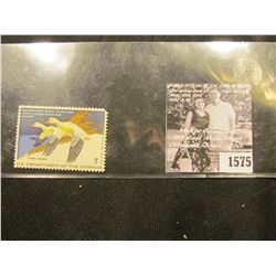 1575 . 1977 RW44 U.S. Department of the Interior Federal Migratory Waterfowl Stamp. Unused, not sign