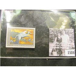 1584 . 1992 RW59 U.S. Department of the Interior Federal Migratory Waterfowl Stamp. Unused, not sign
