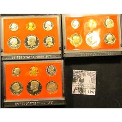 1592 . 1980 S, 81 S, & 82 S U.S. Proof Sets, Original as issued.