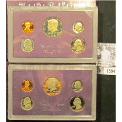 1594 . 1984 S & 85 S U.S. Proof Sets, Original as issued.