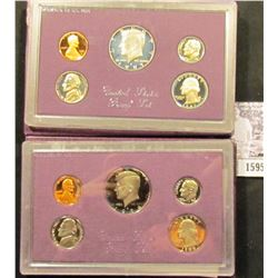 1595 . 1986 S & 87 S U.S. Proof Sets, Original as issued.