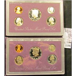 1596 . 1988 S & 89 S U.S. Proof Sets, Original as issued.